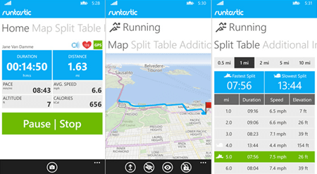 runtastic-interface