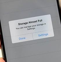 خالی کردن حافظه داخلی گوشی های آیفون