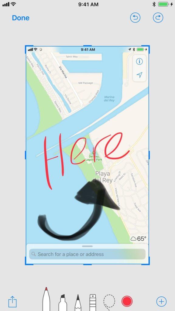 اسکرین شات iOS 11