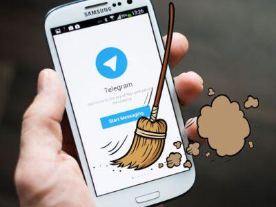 پاک کردن کش تلگرام