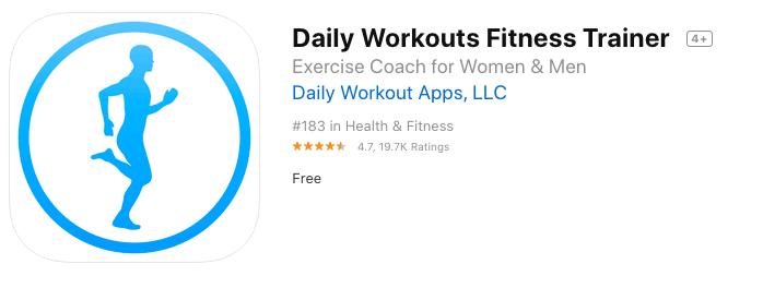 برنامه Daily Workouts Fitness Trainer