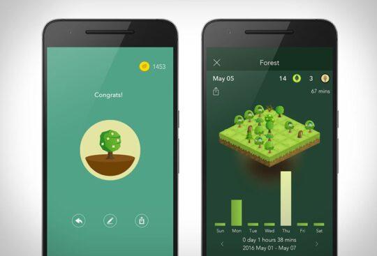 اپلیکیشن مدیریت زمان forest