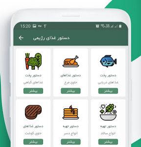 اپلیکیشن رژیم ایرانی